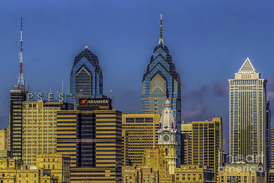 Photograph - Philadelphia City Hall Skyline by Nick Zelinsky