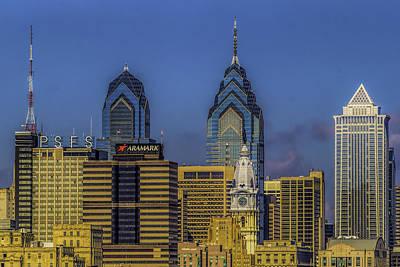 Photograph - Philadelphia City Hall Skyline by Nick Zelinsky