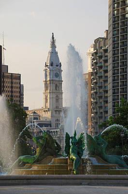 Photograph - Philadelphia City Hall - Swann Fountain by Bill Cannon