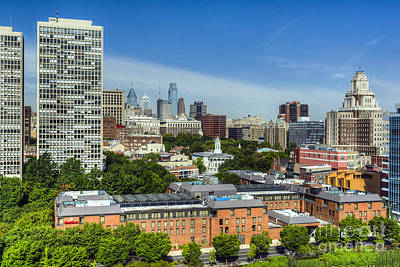 Photograph - Philadelphia Cityscape by David Zanzinger