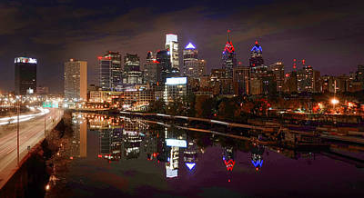 Philadelphia Cityscape Reflections Art Print