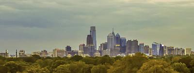 Philadelphia Cityscape View From West Fairmount Park Art Print by Bill Cannon