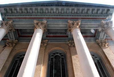 Photograph - Philadelphia Classical Pillars - Looking Up by Matt Harang