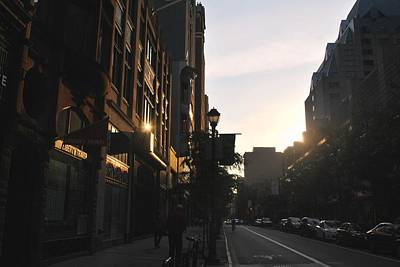 Photograph - Philadelphia Dark Street View Afternoon by Matt Harang