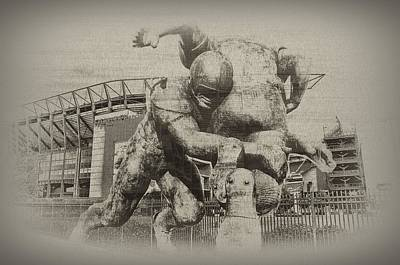 Philadelphia Eagles At The Linc Art Print by Bill Cannon