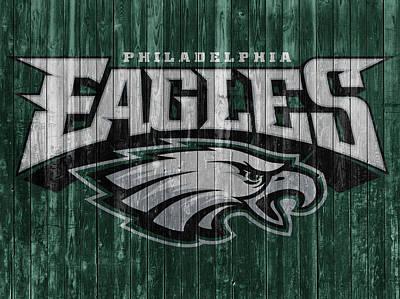 Mixed Media - Philadelphia Eagles Barn Door by Dan Sproul