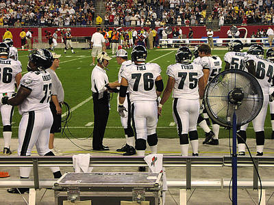 Photograph - Philadelphia Eagle's Bench by Mike Martin