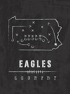Philadelphia Eagles Art - Nfl Football Wall Print Country Art Print