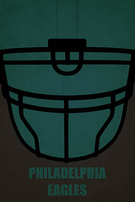 Philadelphia Eagles Helmet Art Art Print by Joe Hamilton