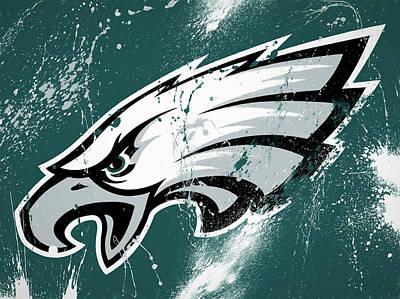 Philadelphia Eagles Paint Splatter Print by Dan Sproul