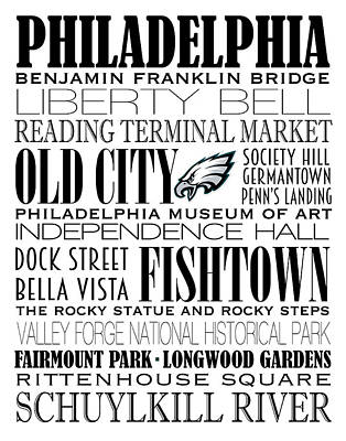 Phillies Digital Art - Philadelphia Eagles Subway Art by Marian Schumer