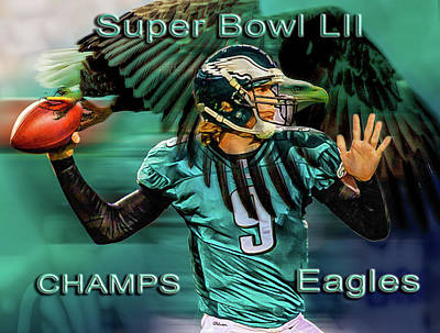 Photograph - Philadelphia Eagles - Super Bowl Champs by Glenn Feron