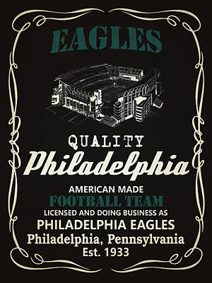 Eagle Mixed Media - Philadelphia Eagles Whiskey by Joe Hamilton