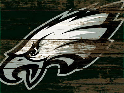 Mixed Media - Philadelphia Eagles Wood Art 1a by Brian Reaves
