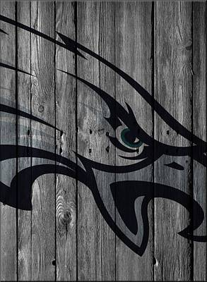 Philadelphia Eagles Wood Fence Art Print