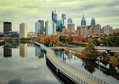 Photograph - Philadelphia Fall Skyline by Patrice Zinck