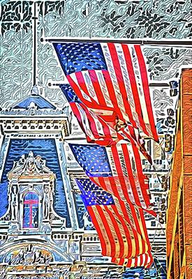 Photograph - Philadelphia Flags by Alice Gipson