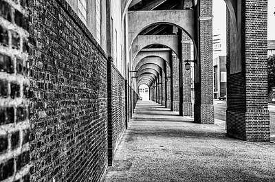Franklin Field Photograph - Philadelphia - Franklin Field Archway In Black And White by Bill Cannon