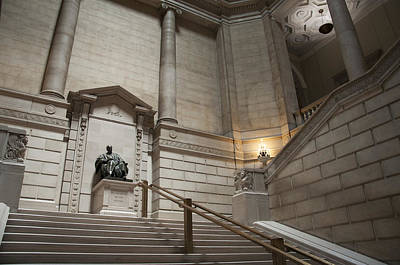 Library Digital Art - Philadelphia Free Library Staircase by Bill Cannon