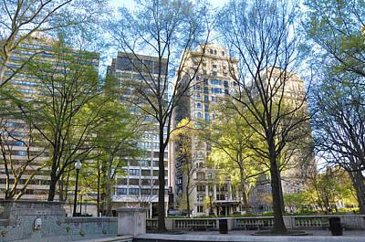 Photograph - Philadelphia In April - Rittenhouse Square by Bill Cannon