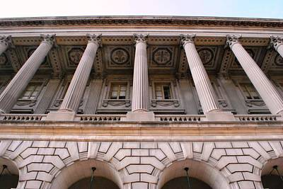 Photograph - Philadelphia Library Pillars by Matt Harang