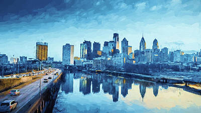 Digital Art - Philadelphia by Louis Ferreira