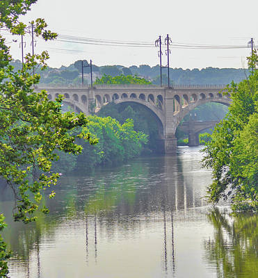 Photograph - Philadelphia - Manayunk Bridge - Summer by Bill Cannon