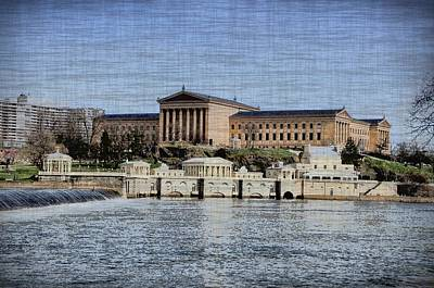 Waterworks Digital Art - Philadelphia Museum Of Art And The Fairmount Waterworks From Across The Schuylkill River by Bill Cannon