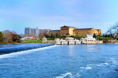 Waterworks Digital Art - Philadelphia Museum Of Art And The Philadelphia Waterworks by Bill Cannon