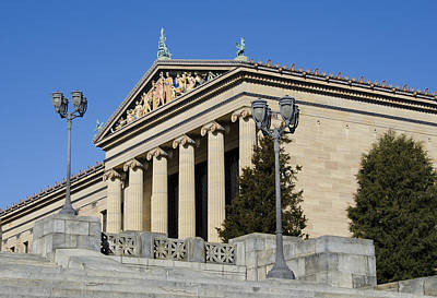 Philadelphia Museum Of Art Art Print by Brendan Reals