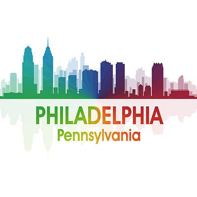 Digital Art - Philadelphia Pa 1 Squared by Angelina Tamez