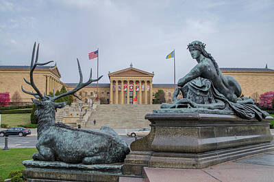 Philadelphia Pa - Museum Of Art Art Print