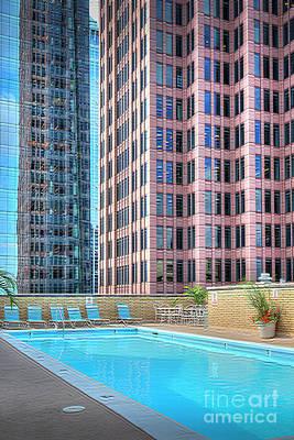 Photograph - Embasy Pool Bell Atlantic Tower 2 Logan Square by David Zanzinger