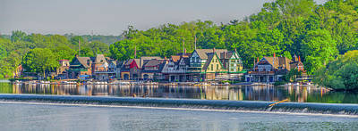 Photograph - Philadelphia Panorama - Boathouse Row by Bill Cannon