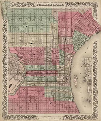 Philadelphia Drawing - Philadelphia, Pennsylvania by Colton
