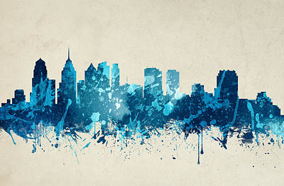Philadelphia Pennsylvania Skyline 20 Art Print by Aged Pixel