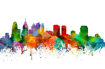 Philadelphia Pennsylvania Skyline 21 Art Print by Aged Pixel