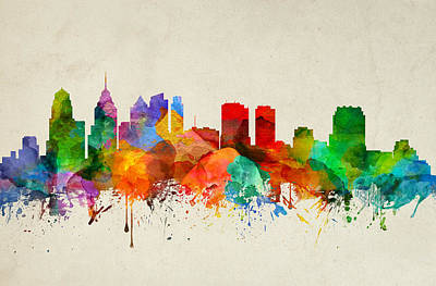 Philadelphia Pennsylvania Skyline 22 Art Print by Aged Pixel