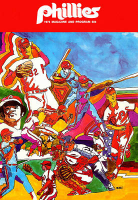 Philadelphia Phillies 1973 Program Art Print by Big 88 Artworks