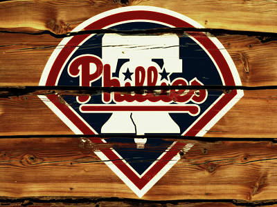 New York Mets Mixed Media - Philadelphia Phillies 2w                        by Brian Reaves