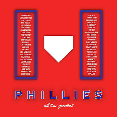 Mlb Digital Art - Philadelphia Phillies Art - Mlb Baseball Wall Print by Damon Gray