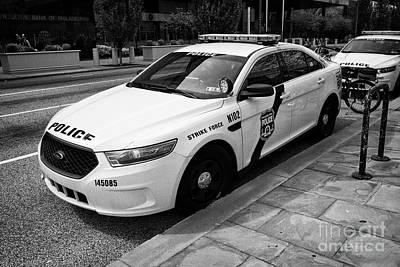 Police Cruiser Photograph - Philadelphia Police Narcotics Strike Force Police Cruiser Vehicle Usa by Joe Fox