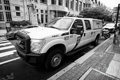 Police Van Photograph - Philadelphia Police Swat Ford Truck Vehicle Usa by Joe Fox
