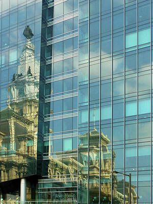 Philadelphia Reflections Print by Russ Harris