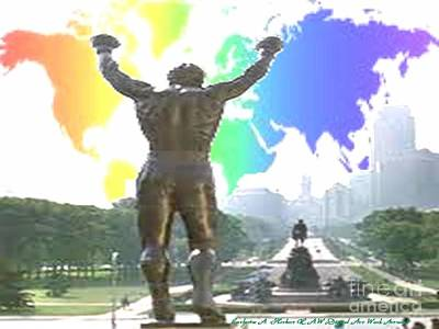Phillies Digital Art - Philadelphia Rocky Raw by Catherine Herbert
