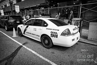 Police Cruiser Photograph - Philadelphia Sheriffs Office Chevy Impala Police Cruiser K-9 Unit Explosives Detection Vehicle Usa by Joe Fox