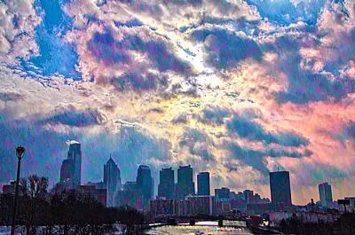 Philadelphia Sky Art Print by Bill Cannon