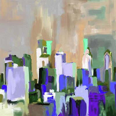 Philadelphia Painting - Philadelphia Skyline 650 2 by Mawra Tahreem