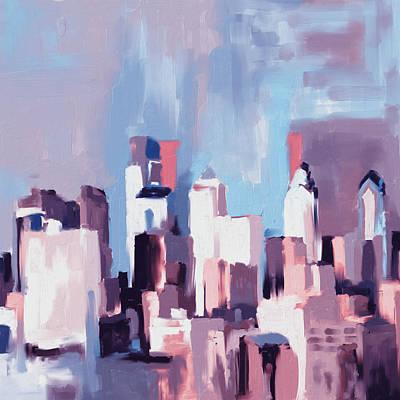 Philadelphia Painting - Philadelphia Skyline 650 4 by Mawra Tahreem