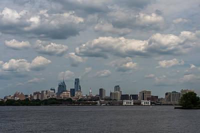 Philadelphia Skyline Photograph - Philadelphia Skyline Across The Delaware River by Terry DeLuco